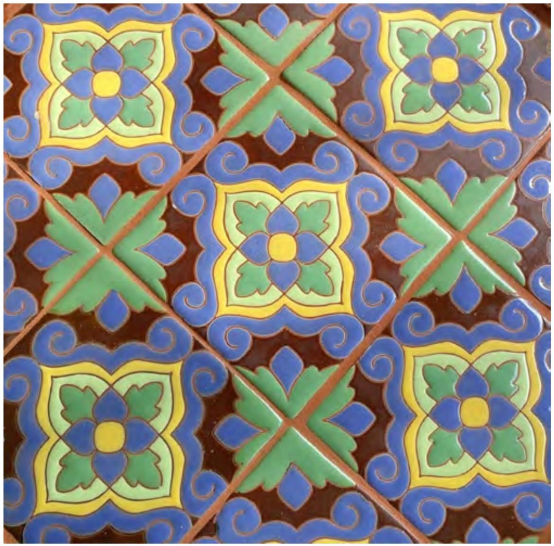 Cuerda seca tiling example