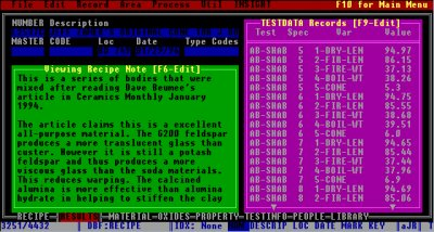 The Test Results area in DOS Foresight