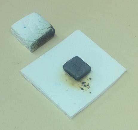 Copper carbonate fuming