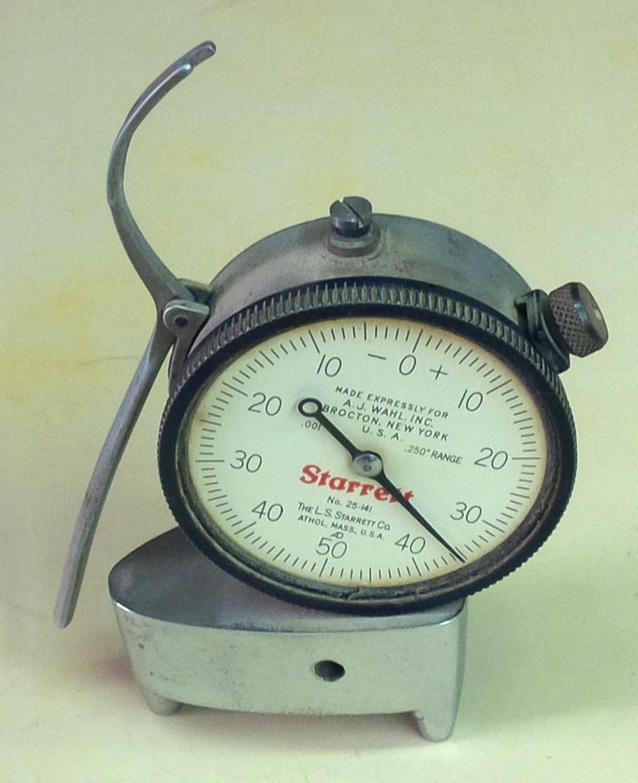 A glaze thickness tester