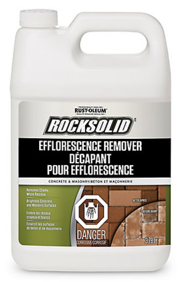 Acid products are available to remove efflorescence from ceramic surfaces