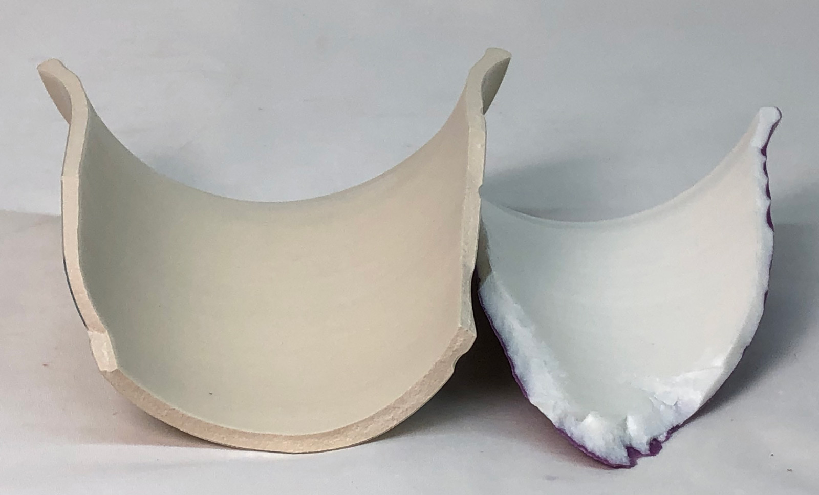 Cone 6 whiteware vs. vitreous porcelain when it breaks