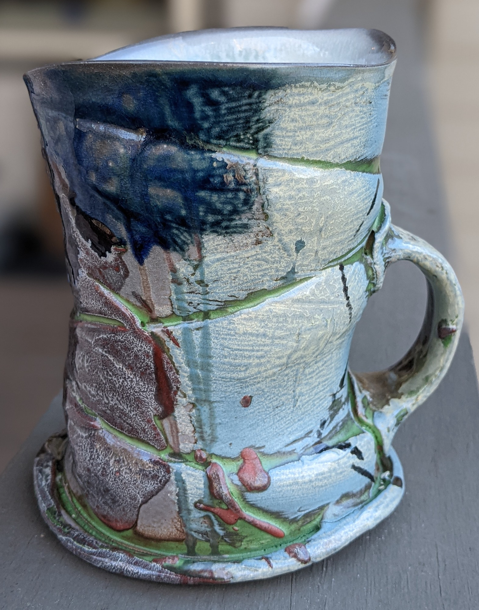 Wood/Soda fired Cone 10 mug by John Cummings