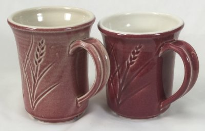 A once-fire mug vs. a bisque-fired mug