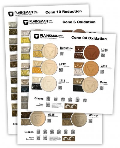 2020 Sample Boards for Plainsman Clay Bodies