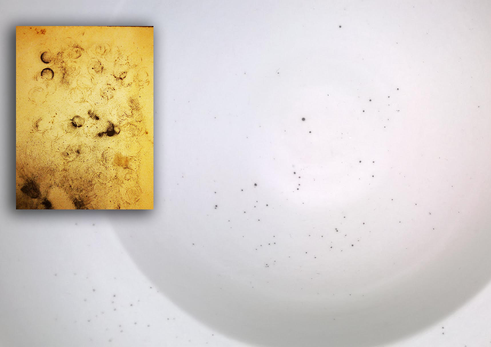 Fired specks in gas-fired porcelain. Where is the contamination from?