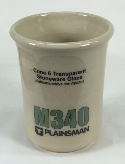 Plainsman M340 mug with G2926B clear glaze