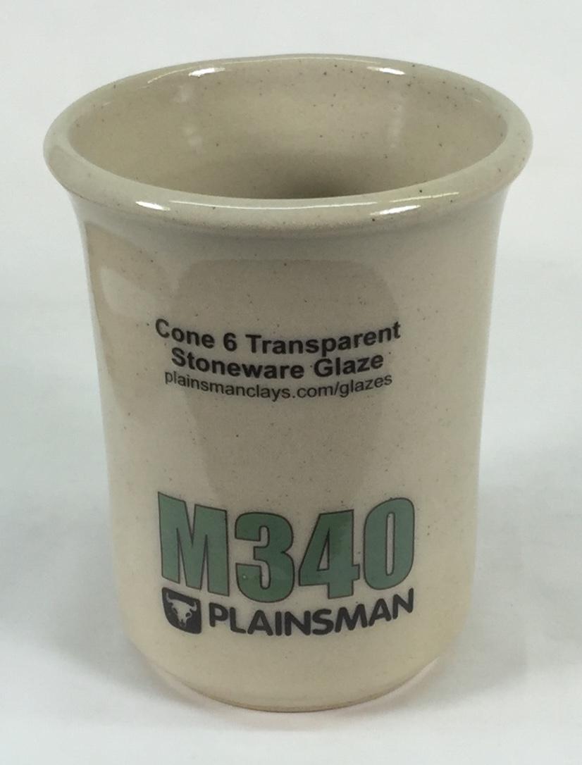 Plainsman M340 mug with G2926B clear glaze