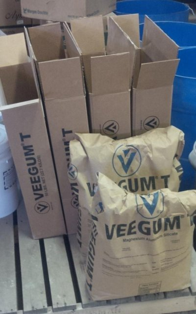 Each 50 lb VeeGum bag is packaged in its own box