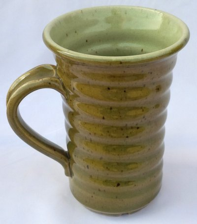 Ravenscrag Celadon and silky matte glazed mug by Tony Hansen