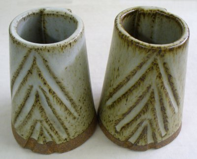 Two great dolomite matte cone 10R recipes on iron stoneware