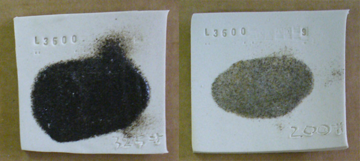 Could these bentonite particles cause specking in a porcelain?