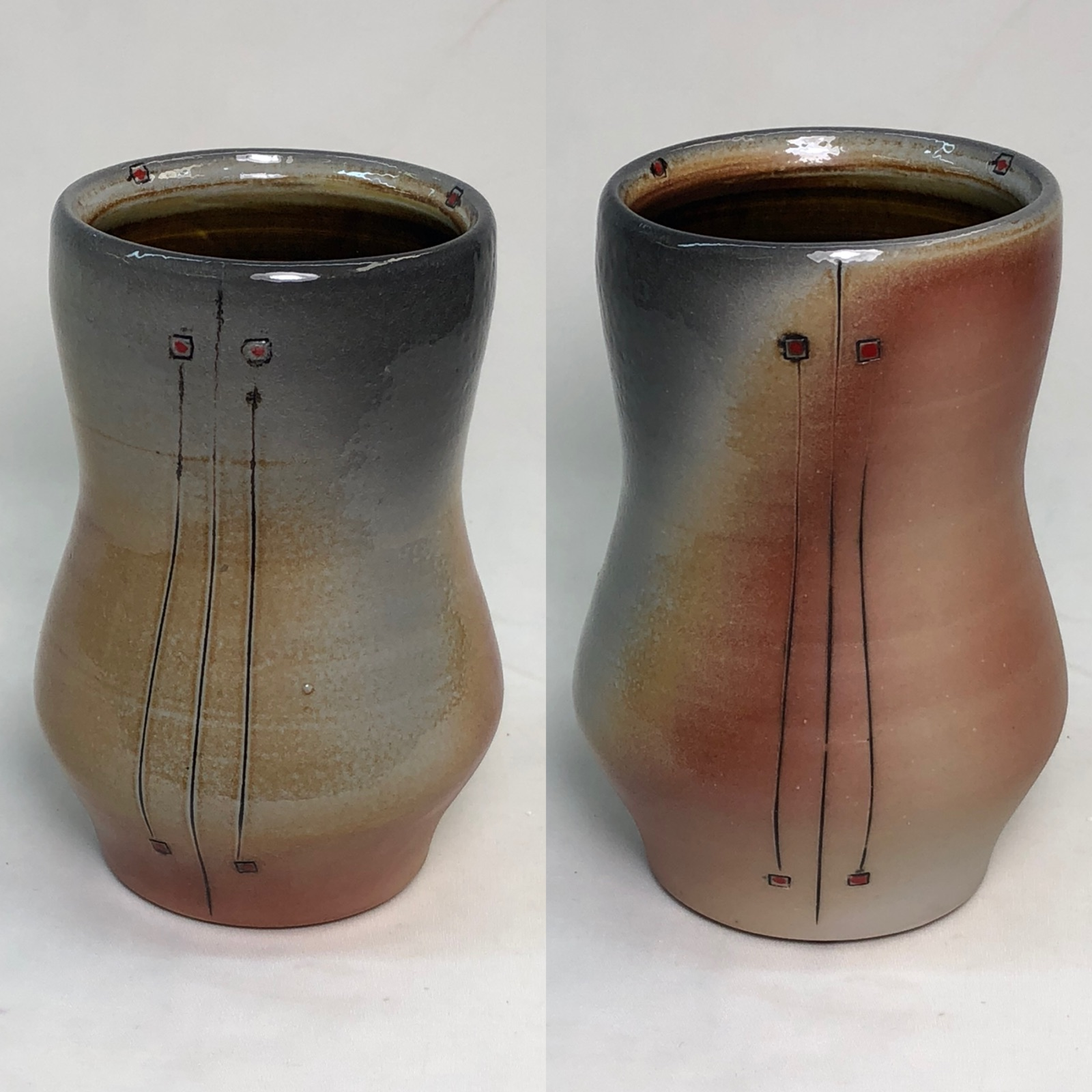 Soda fired porcelain vessel by Heather Lepp