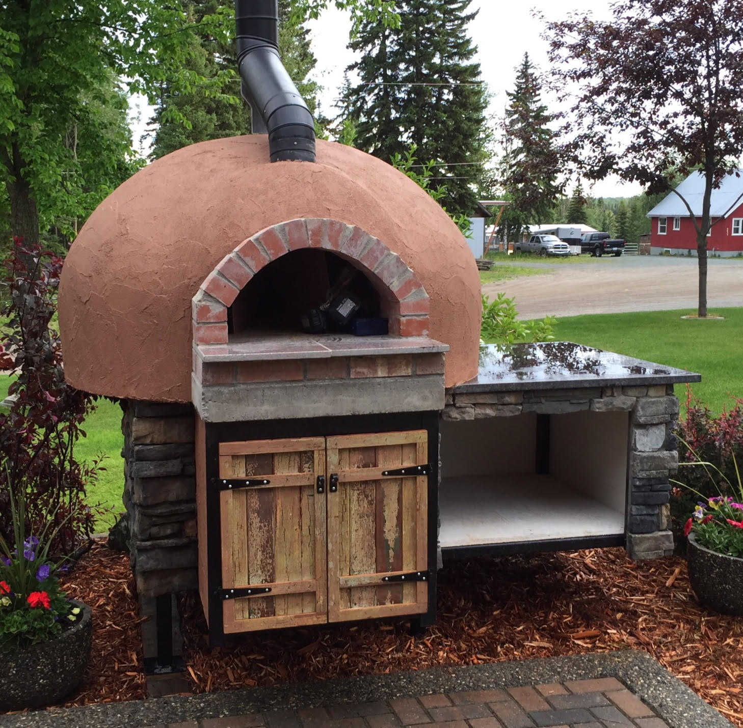 A Thermal Mass Pizza or Baking Oven