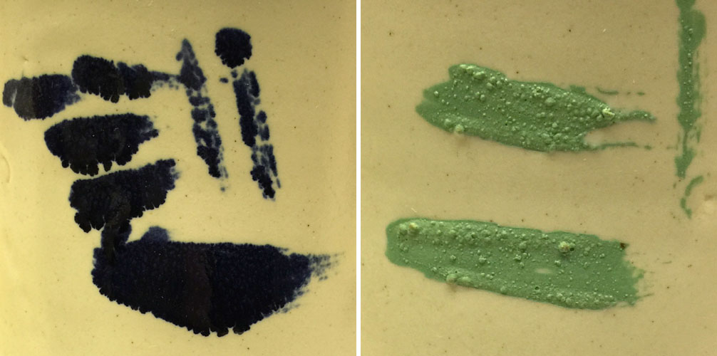 Why you should not paint pure stain powders over glaze