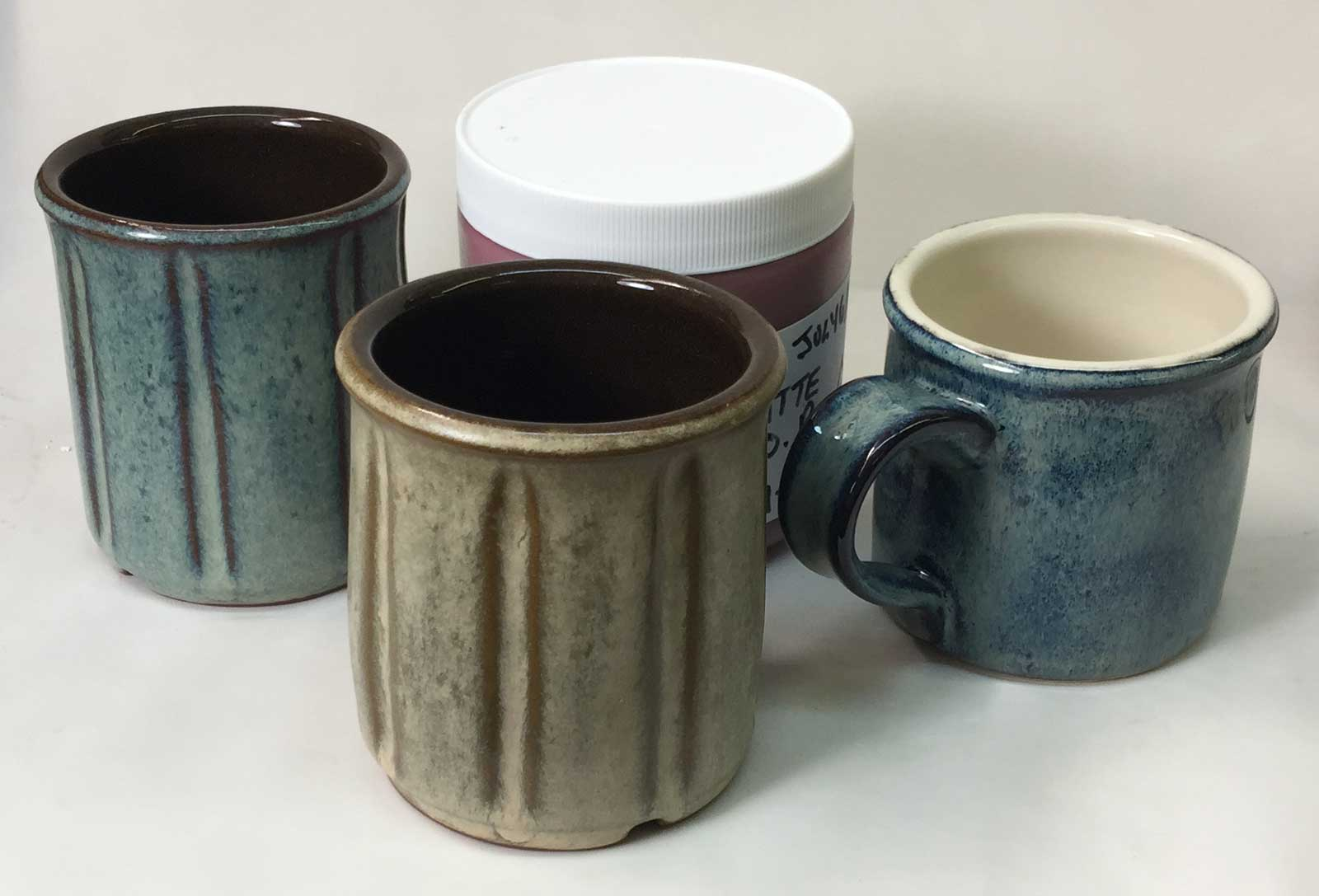 Common dipping glazes converted to jars of brushing glazes
