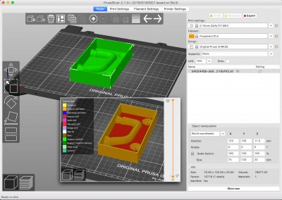 The Prusa Slicer generates G-Code for 3D-printing