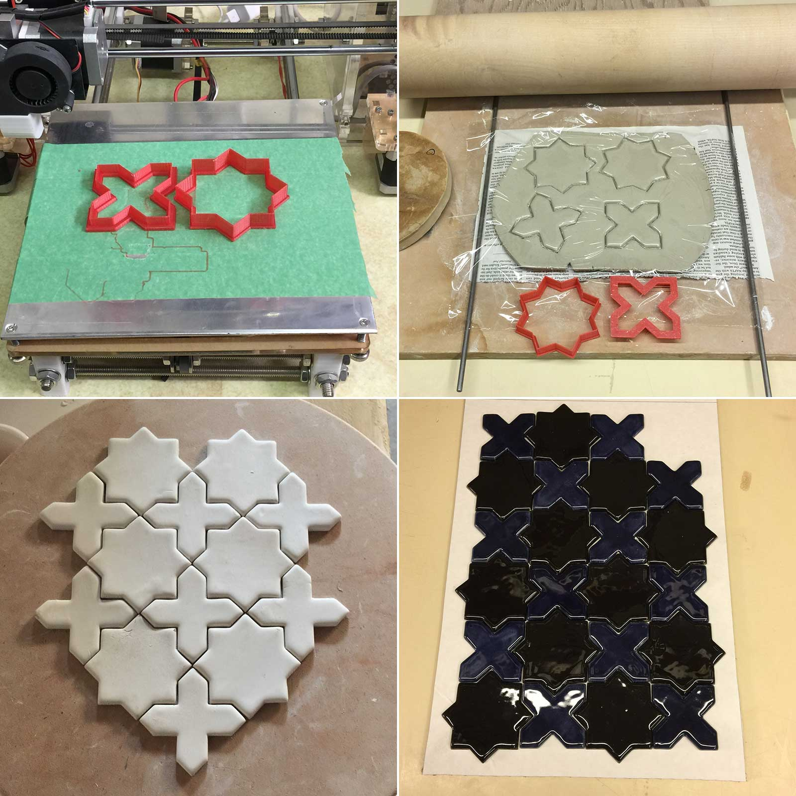 Making ceramic tile shapes by 3D printing your own cookie cutters