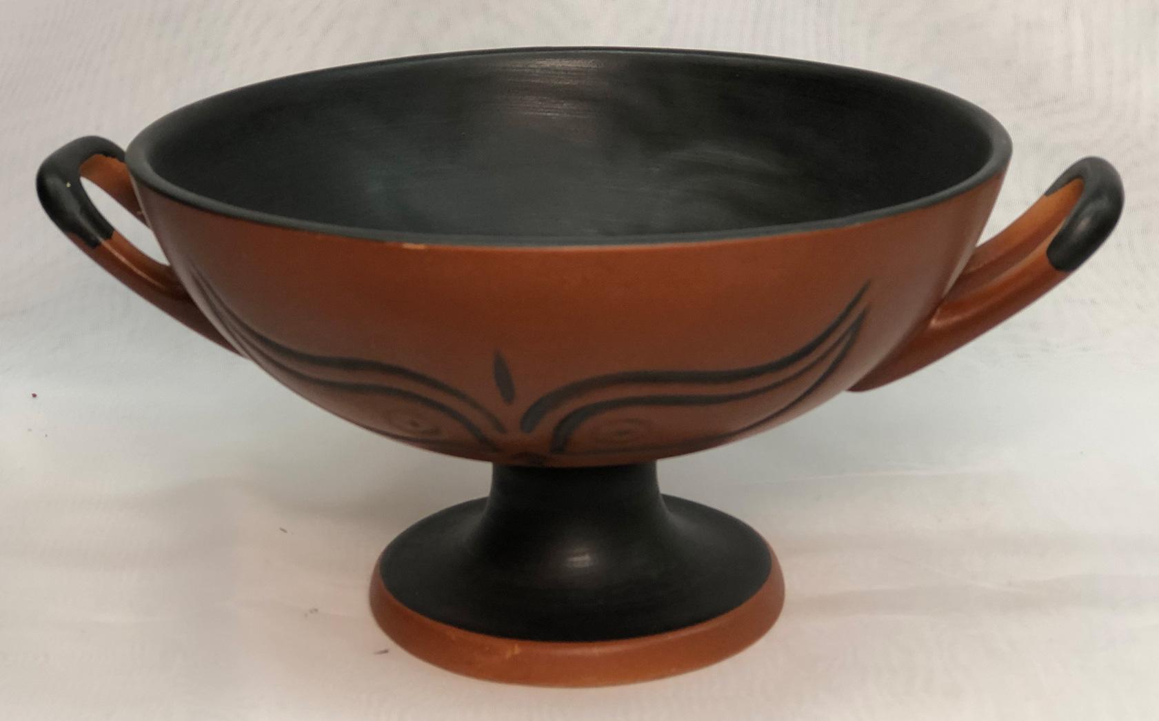 A terra cotta bowl made in Turkey