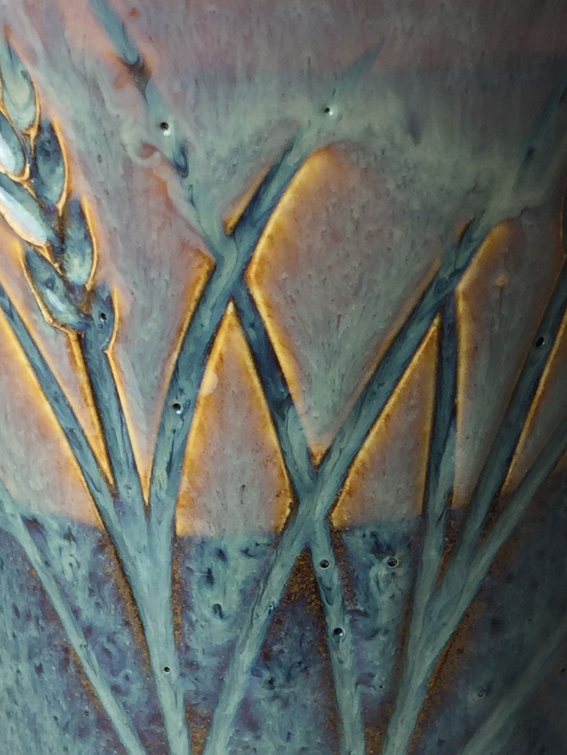 Rutile blue reactive glazes do not refire well