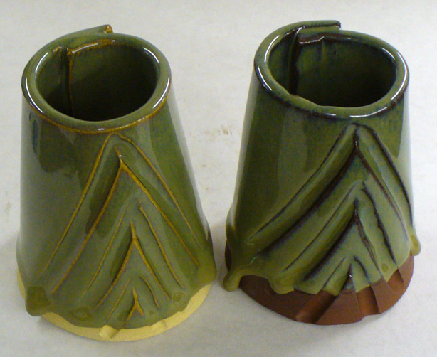 Copper oxide (2%) in an otherwise stable cone 6 oxidation glaze fluxes it