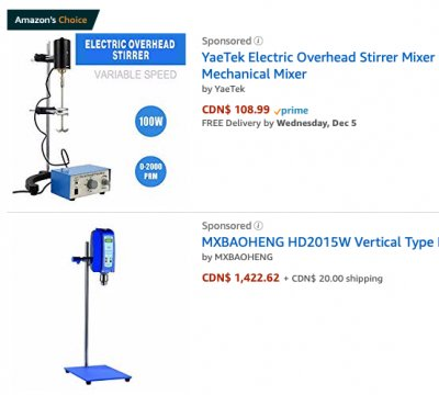 Get a variable speed lab mixer at Amazon.com