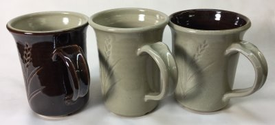 Laguna B-Mix Cone 10R mugs with Alberta and Ravenscrag glazes