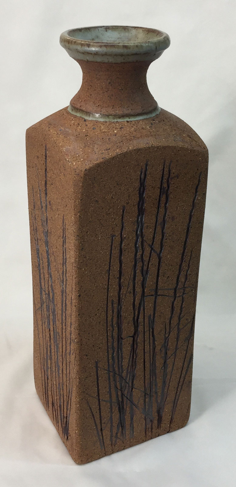 Handbuilt vase with thrown neck by Tony Hansen