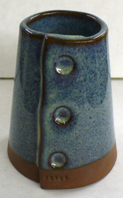 GA6-A Alberta Slip rutile blue on a dark cone 6 body