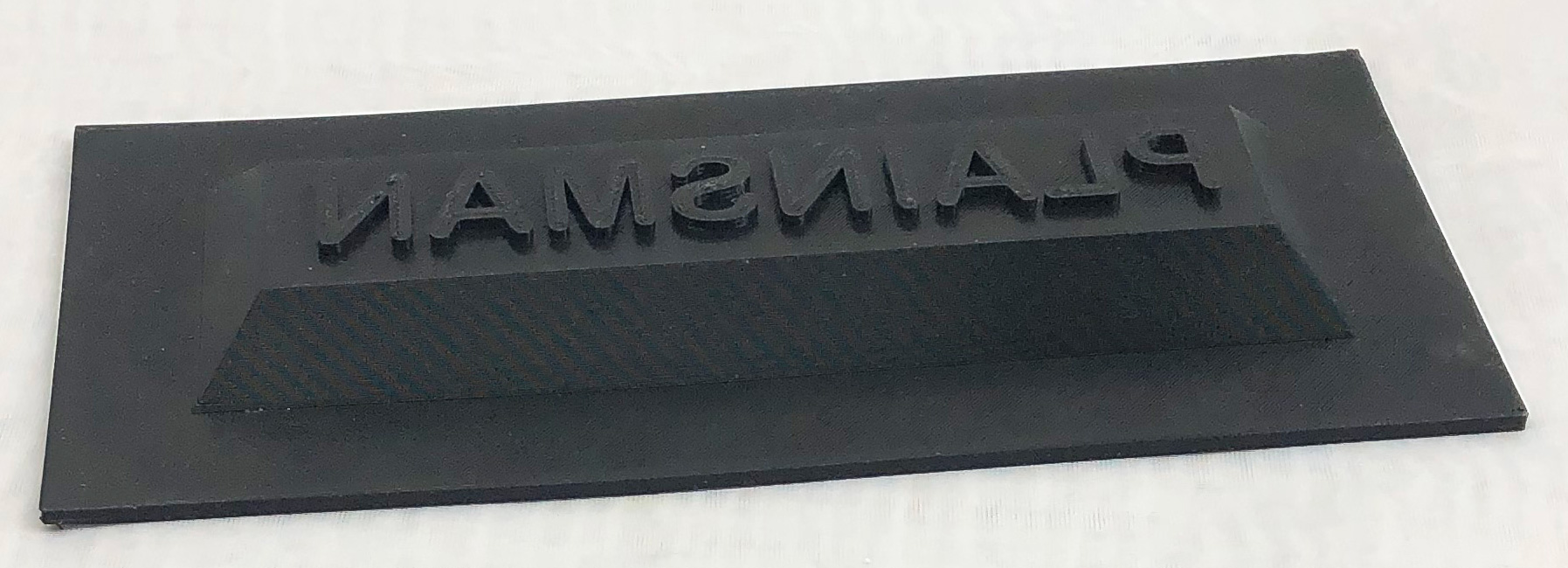 3D printed press mold to create inset face with logo