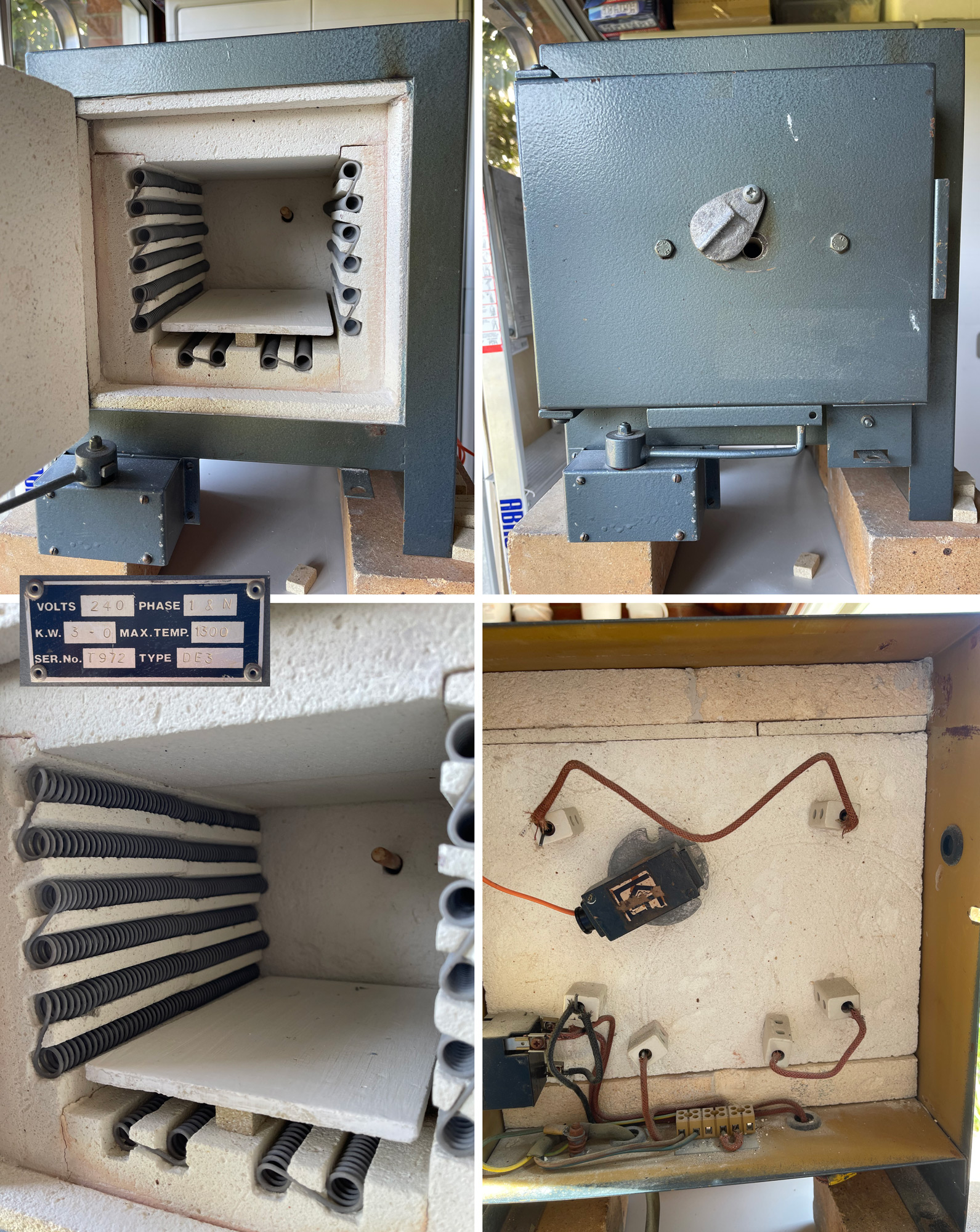 A small 220V electric test kiln