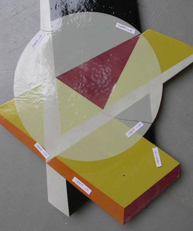 Tile having angular shape is cracking at vertexes
