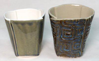 Fluid melt glaze needs uneven surface to developed visual