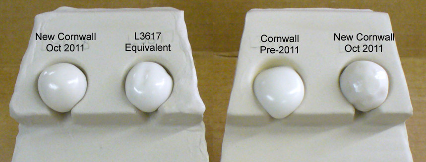 Cornwall Stone off different dates compared to substitute L3617