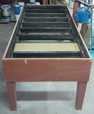 Plaster table frame