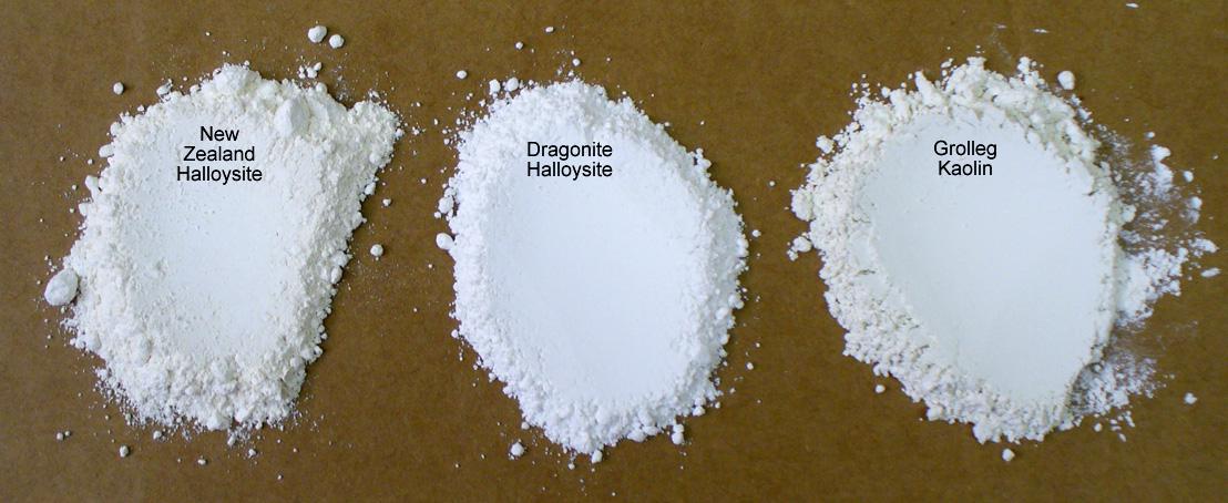 Compare powder color of super white kaolins