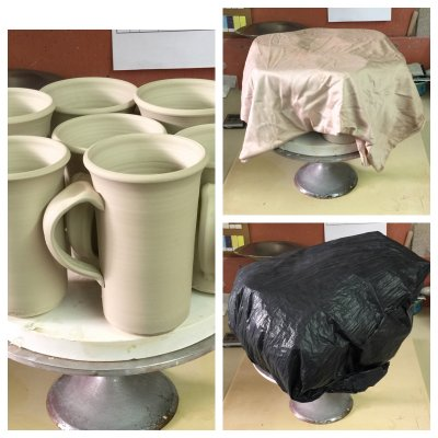 How to dry these mugs evenly to avoid cracks