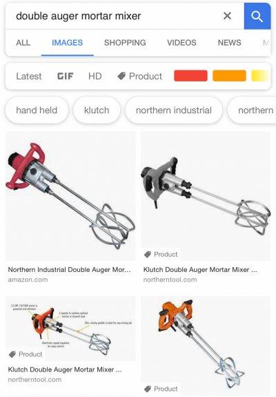 Double auger mortar mixer