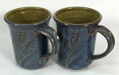 Plainsman iron red clays with rutile blue Alberta Slip glaze