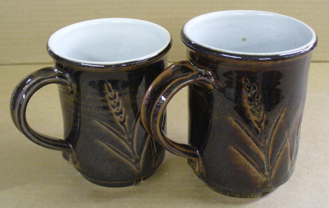 Tenmokus made from Alberta Slip and Ravenscrag Slip