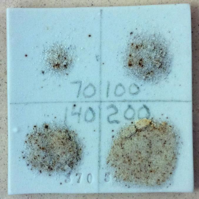 Watch out for iron particles in ball clays