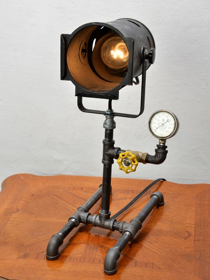 Industrial style lamp, Steam Punk style lamp, unique, one-of-a-kind, art