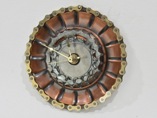 Industrial style clock, Steam Punk style, unique, one-of-a-kind, art | CS8_0978fx.jpg