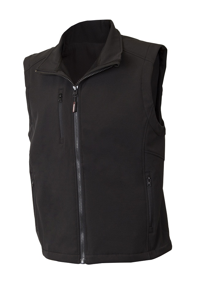 Mens Soft Shell Insulated Vest Black 5xl