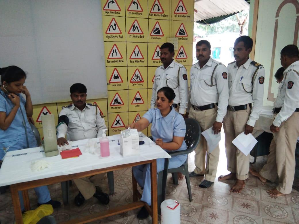 Health Checkup Camp at Kalamboli Traffic Police Station