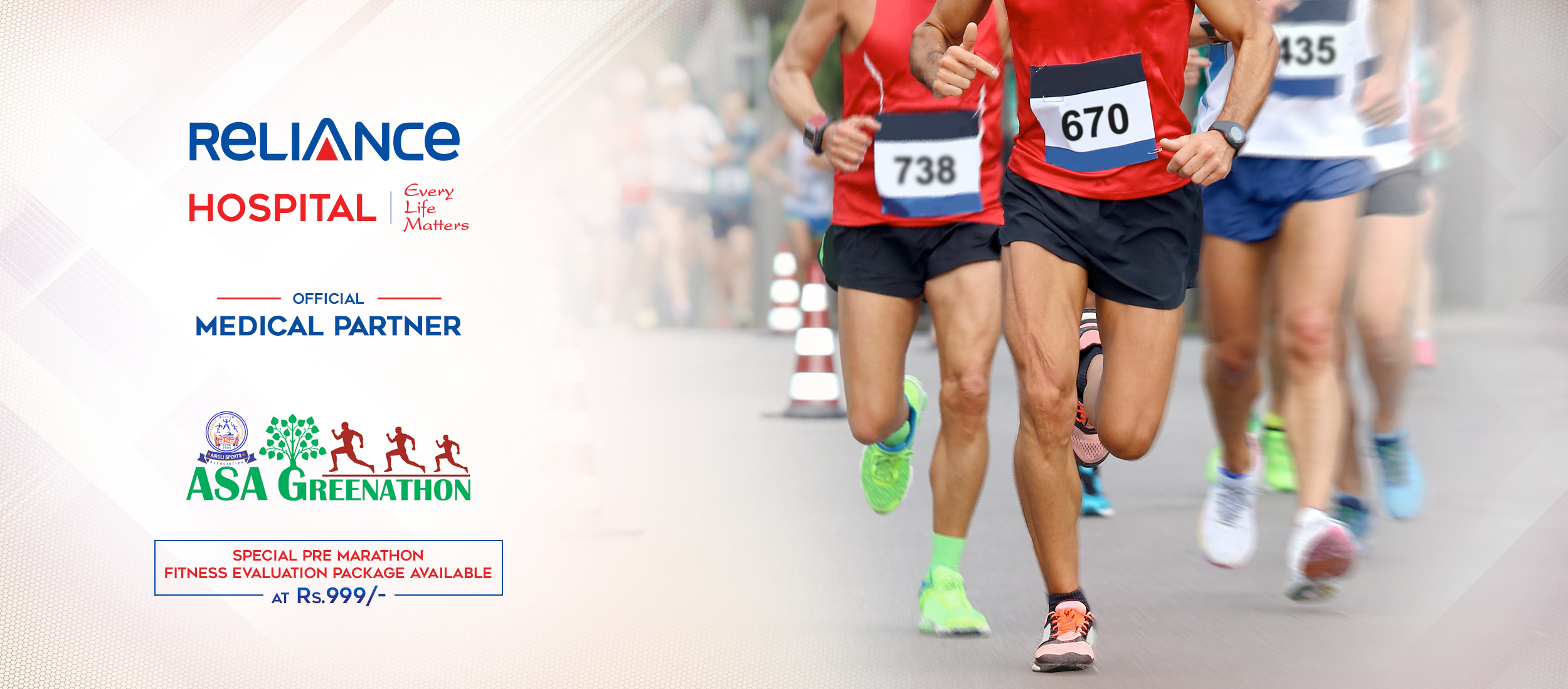 Special Pre Marathon Fitness Evaluation Package Available in Navi Mumbai