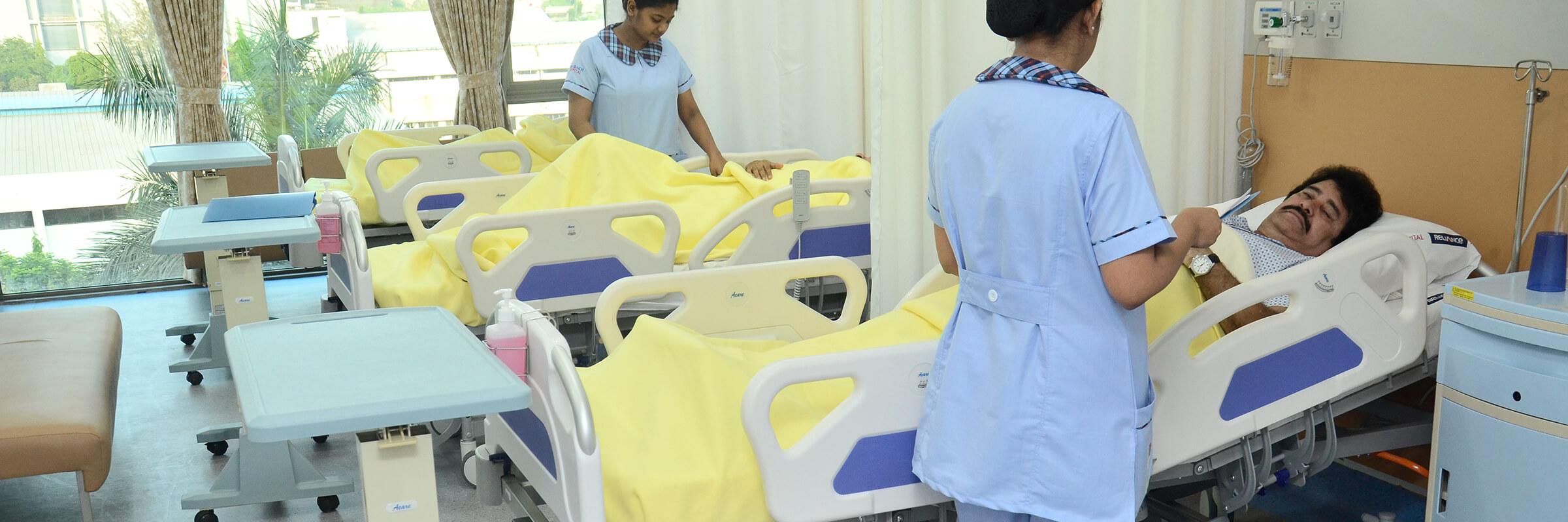 Reliance Hospitals Patient Rooms