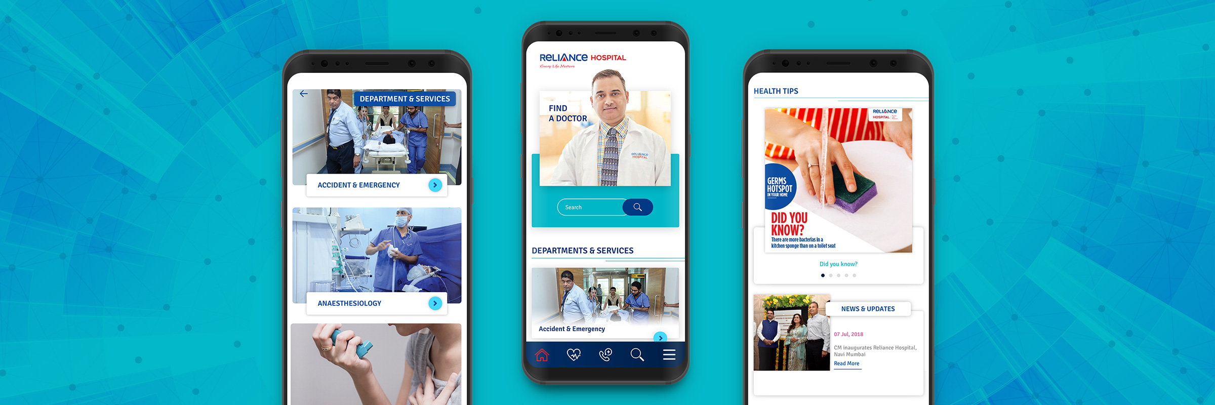 Reliance Hospitals Mobile Application