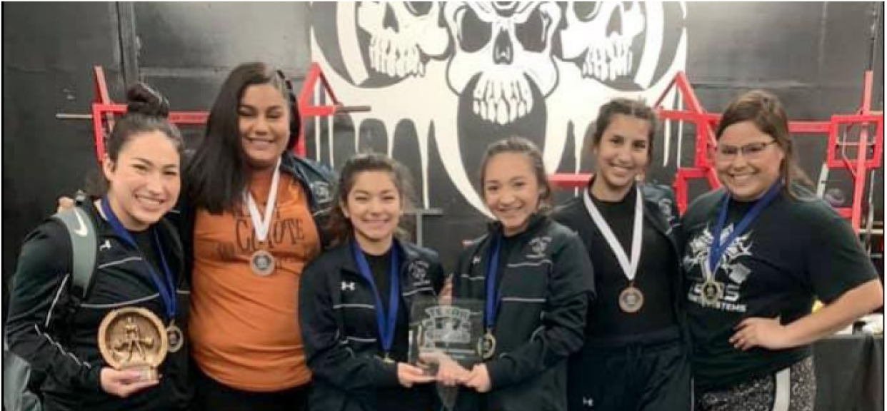 Powerlifting- Lady Coyotes 2nd at San Antonio