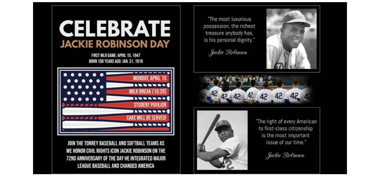 Celebrate Jackie Robinson Day on Monday!